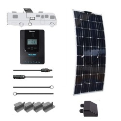 FLEXIBLE 12V 100W RV Solar Kit with Installation Included