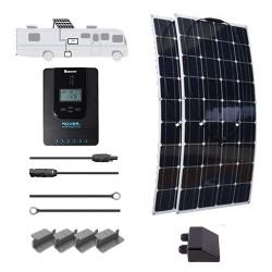 Flexible 12V 200W RV Solar Kit Installed