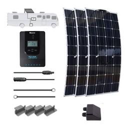 Flexible 12V 300W RV Solar Kit Installed