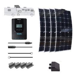 Flexible 12V 400W RV Solar Kit Installed