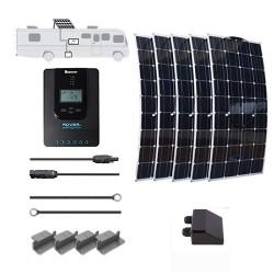 Flexible 12V 500W RV Solar Kit Installed